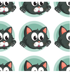 Seamless pattern tile cartoon with cat vector