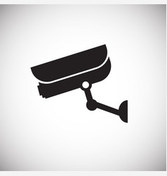 Security camera control on white background vector