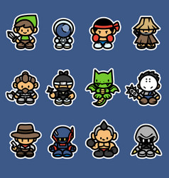 Set game characters vector