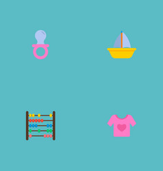 set of infant icons flat style symbols with nip vector image