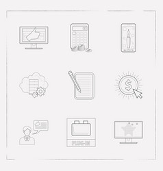 Set of webdesign icons line style symbols with vector
