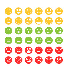 smiley emoticon icons vector image