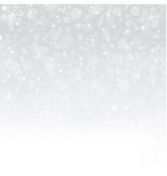 snowflakes of winter christmas in dark blue vector image