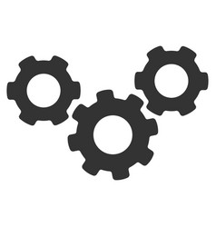 system gears flat icon vector image