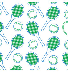 Tennis racquet and ball pattern image vector