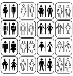 Toilet icons set vector