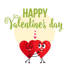 Valentine day greeting card design with two vector