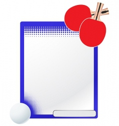 Vector table tennis template vector