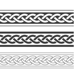 vintage viking border vector image