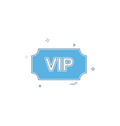 vip ticket icon design vector image