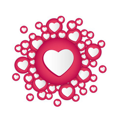 white background with hearts signs vector image