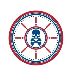 Skull symbol on white vector image