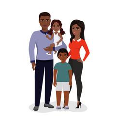 beautiful happy family vector image