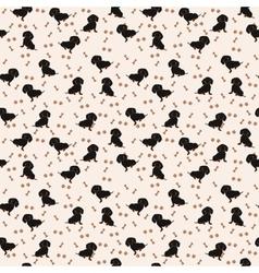 Dogs dachshund seamless pattern dog vector
