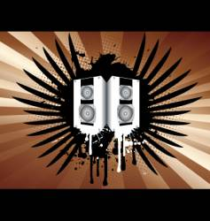 grunge speakers vector image vector image