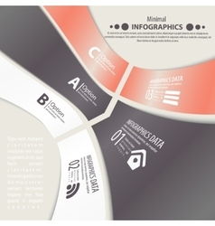 Modern design infographic template vector image