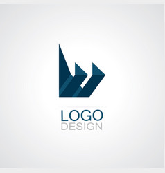 paper craft technology logo vector image
