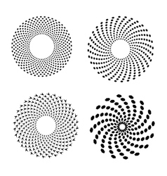 Set of spirals Design element vector image
