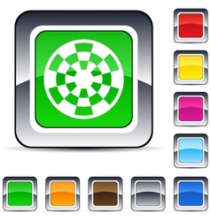 target square button vector image vector image