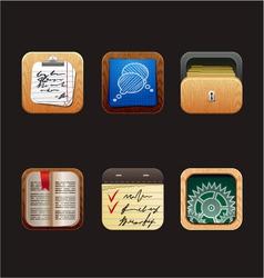 web icon app vector image vector image