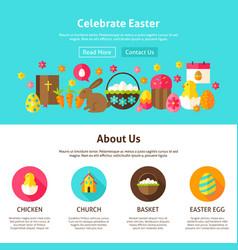 celebrate easter web design vector image vector image