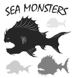Sea monsters set vector image vector image