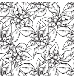 seamless hand draw pattern with ink vector image vector image