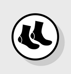 socks sign flat black icon in white vector image