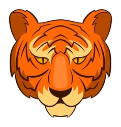 Tiger head icon cartoon style vector image vector image