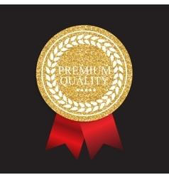 Art Golden Medal Icon Sign Premium Quality vector image vector image