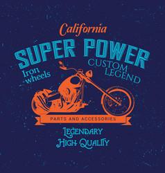 California super power poster vector