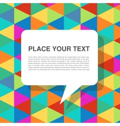 colorful abstract template with speech bubbles vector image vector image