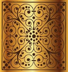 Luxury Vintage Floral Golden Background vector image vector image