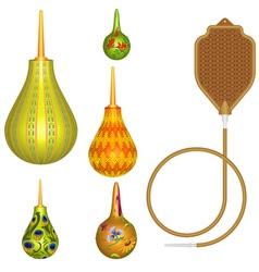 Multicolored Enemas vector image vector image
