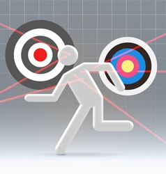 Potential user aiming process vector image