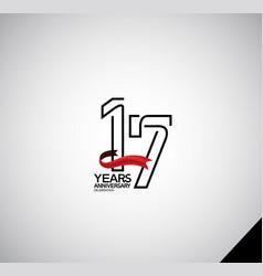 17 years anniversary logotype simple design vector