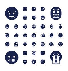 37 emoji icons vector