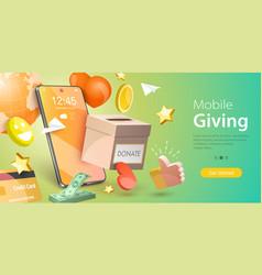 3d conceptual donation vector