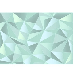 Abstract mint triangles 3d background vector image