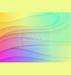 abstract volumetric 3d gradient color paper cuted vector image