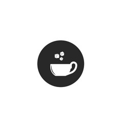 add sugar icon cup tea or coffee with refined vector image