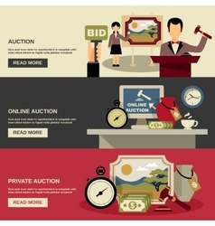 Auction Banners Set vector image