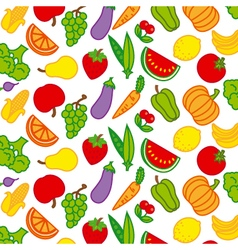 background fruits and vegetables vector image