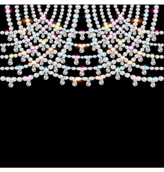 background with jeweled pendants on black vector image vector image