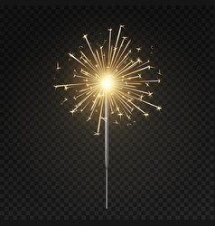 Bengal light burning sparkler christmas new vector