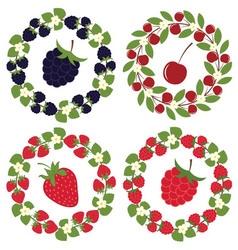 Berry Wreath Set vector image