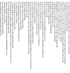 binary coding computer digital information vector image