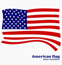 bright background with flag of usa happy america vector image