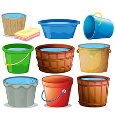 Bucket set vector image
