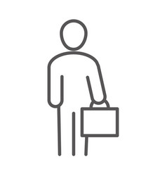 Businessman with briefcase business work office vector